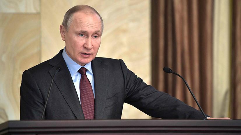 Путин заявил, что не сомневался во введении санкций из-за Крыма