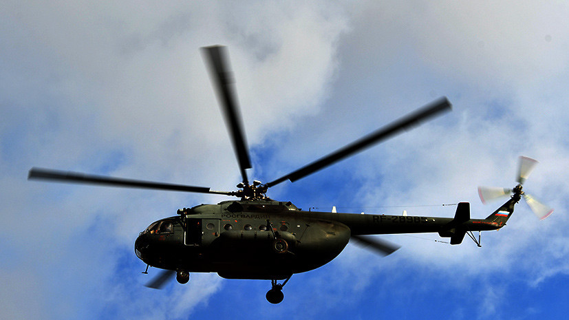 СК возбудил дело по факту крушения вертолёта Ми-8 в Чечне
