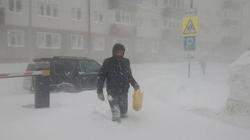 На Сахалине объявлено штормовое предупреждение из-за непогоды