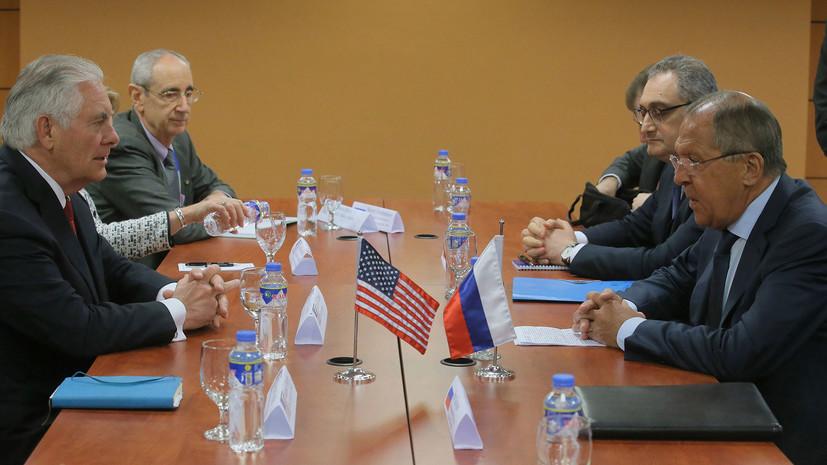 Рябков о несостоявшейся встрече Лаврова и Тиллерсона: будем искать другую возможность