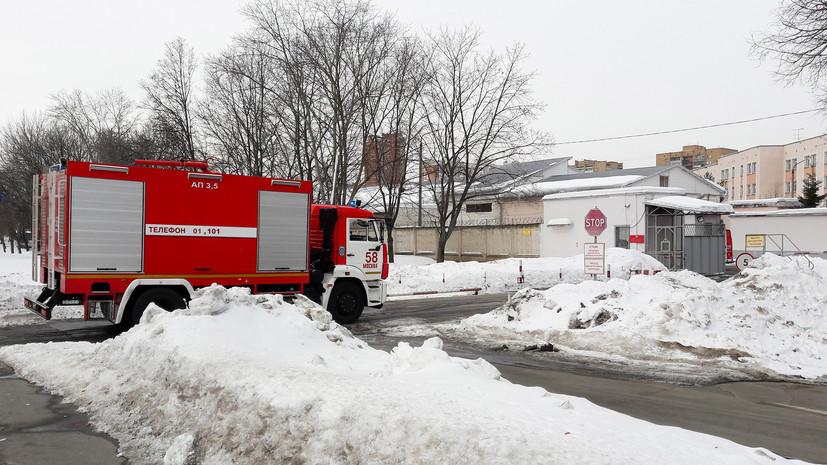 Источник: на складе Московского суворовского военного училища произошёл пожар