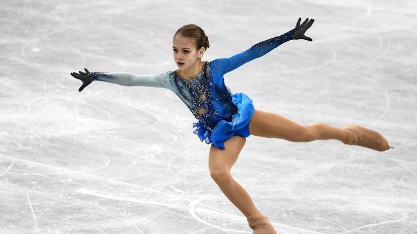 Опережая время: россиянка Трусова впервые в истории исполнила два четверных прыжка и выиграла ЮЧМ по фигурному катанию