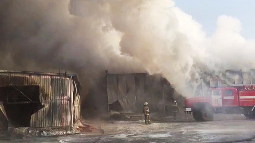 Источник сообщил о пожаре на заводе в Перми