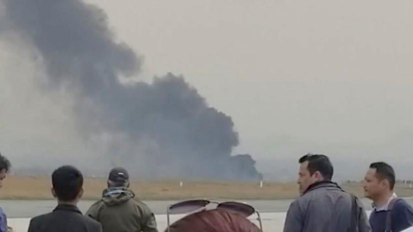 Самолёт потерпел крушение рядом с аэропортом Катманду