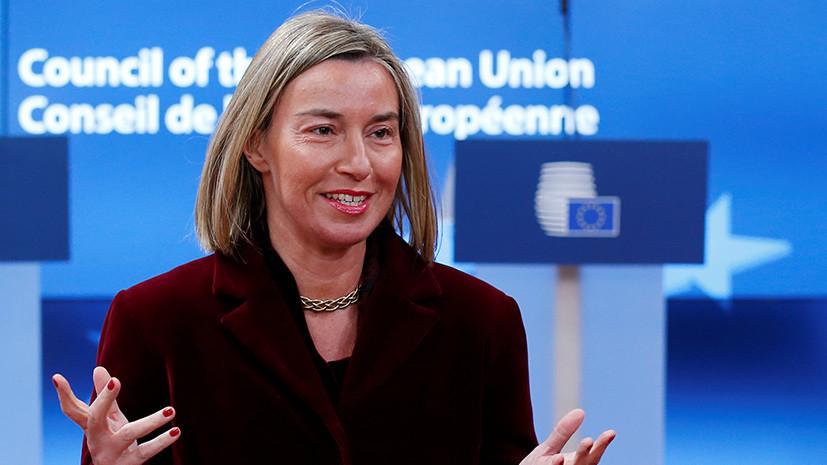 Могерини заявила о непризнании ЕС выборов президента России в Крыму
