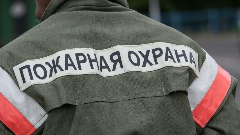 В Иркутской области произошёл крупный пожар