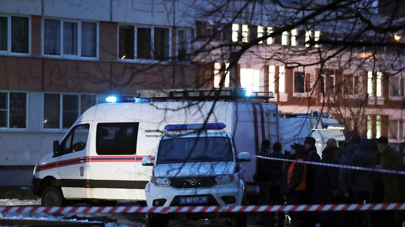 В МЧС рассказали о завершении поисково-спасательных работ после хлопка газа в Петербурге