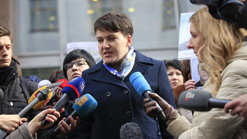 Савченко намерена провести брифинг у здания СБУ в Киеве