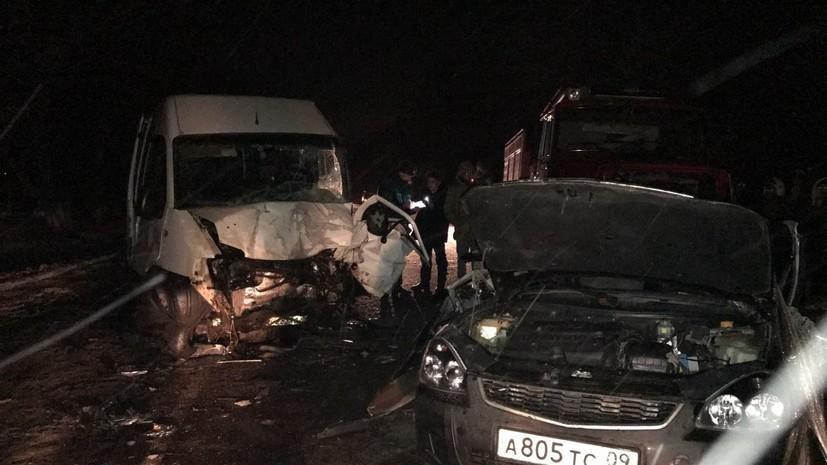 Источник: под Курском в ДТП с микроавтобусом погибли четыре человека