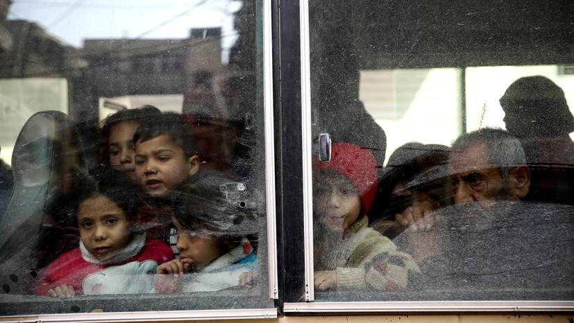 Восточную Гуту в ходе гуманитарной паузы 15 марта покинули более 350 человек