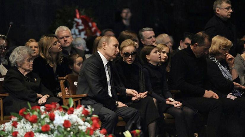 Путин приехал на церемонию прощания с Табаковым