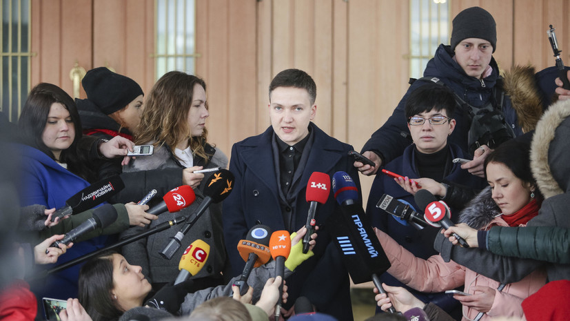Савченко у здания СБУ призвала задуматься о свержении власти на Украине