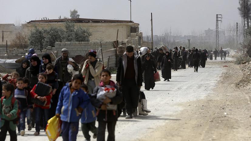 Центр по примирению: Восточную Гуту покинули более 4 тысяч мирных жителей