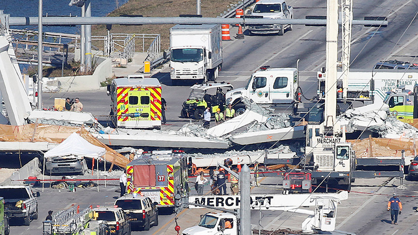 Власти Майами уточнили число погибших в результате обрушения моста