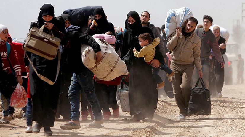Минобороны ведёт трансляцию с пунктов пропуска гумкоридоров в Сирии