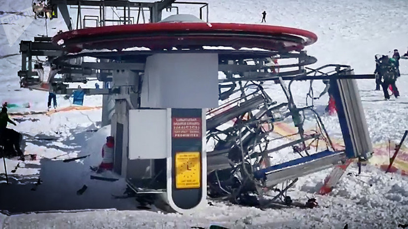 Восемь человек пострадали в результате аварии на канатной дороге в Грузии