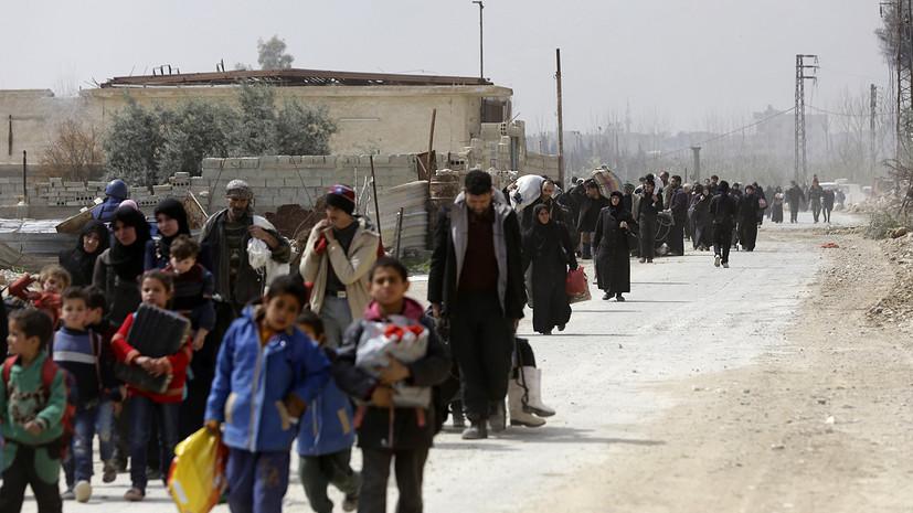 Более пяти тысяч человек смогли выйти из Восточной Гуты 18 марта