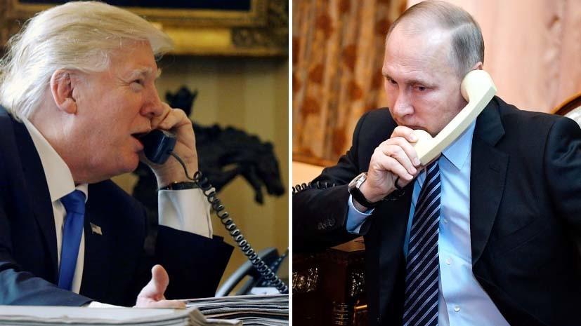 Трамп поздравил Владимира Путина спобедой навыборах