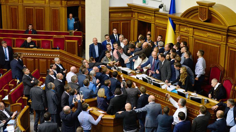 Депутатам запретили приходить с оружием в Верховную раду