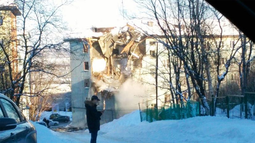 СК возбудил дело после взрыва газа в Мурманске