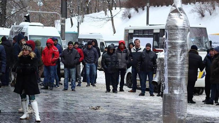 В Киеве полицейские задержали у здания кабмина семерых митингующих