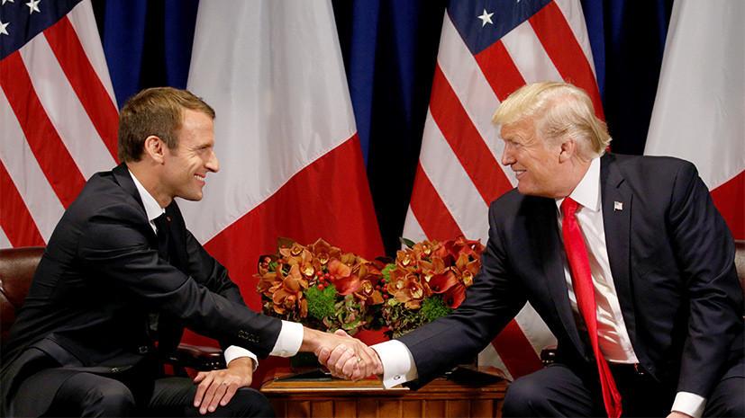 Трамп и Макрон заявили о необходимости принять меры против России из-за дела Скрипаля