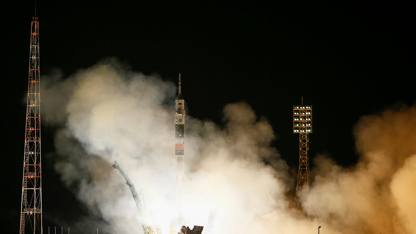 Ракета «Союз-ФГ» с экипажем МКС на корабле «Союз МС-08» стартовала с Байконура