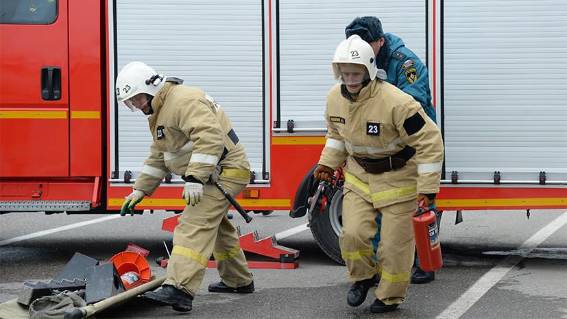 Источник: три человека пострадали при обрушении реконструируемого здания в Москве