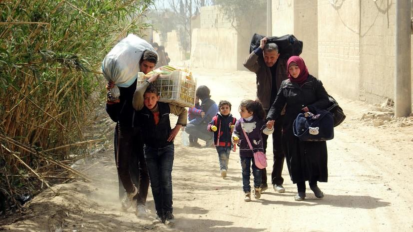ЦПВС: более 5 тысяч мирных жителей вышли из Восточной Гуты 22 марта