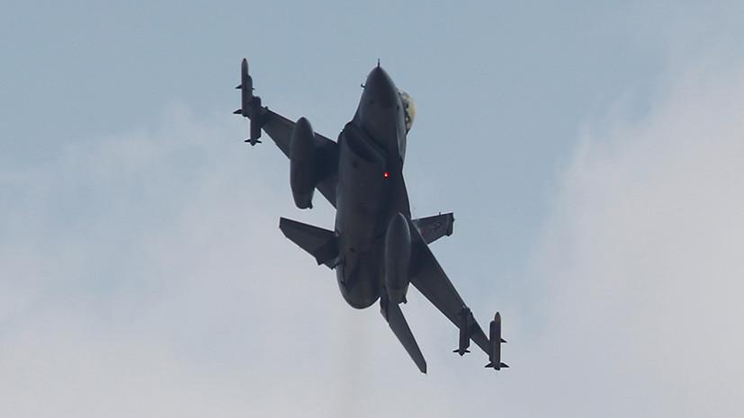 В Турции во время тренировочного полёта разбился истребитель