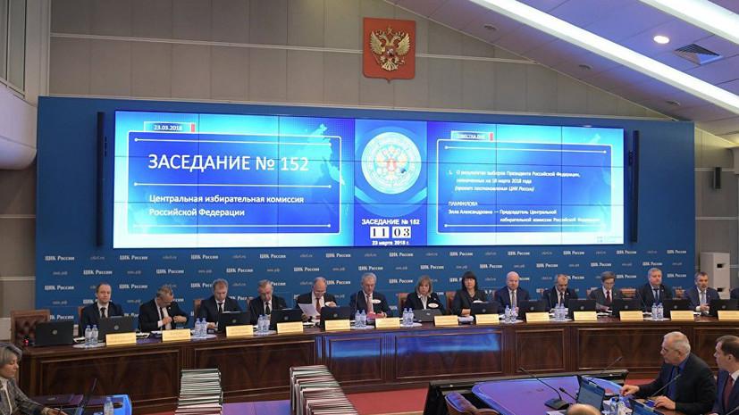 ЦИК: выборы в России соответствуют требованиям, которые должны были быть выполнены