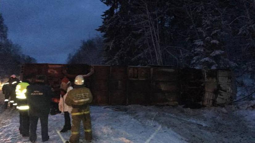 Более 20 человек госпитализированы после ДТП с автобусом в Псковской области