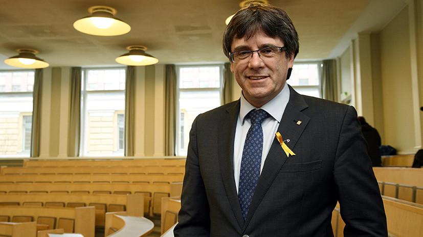 Испания направила Финляндии запрос о выдаче Пучдемона
