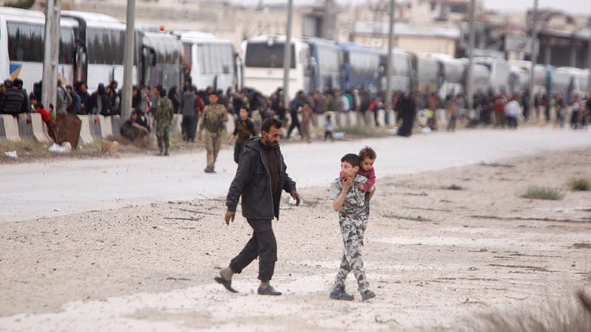 С начала действия гуманитарных пауз Восточную Гуту покинули более 106 тысяч человек