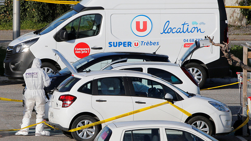 В супермаркете на юге Франции после захвата заложников нашли самодельные бомбы