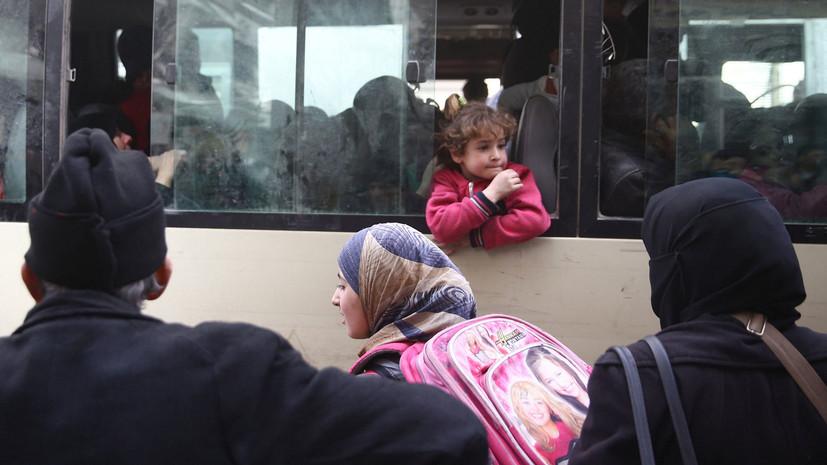 За сутки город Дума в Восточной Гуте покинули свыше 1,7 тысячи мирных жителей