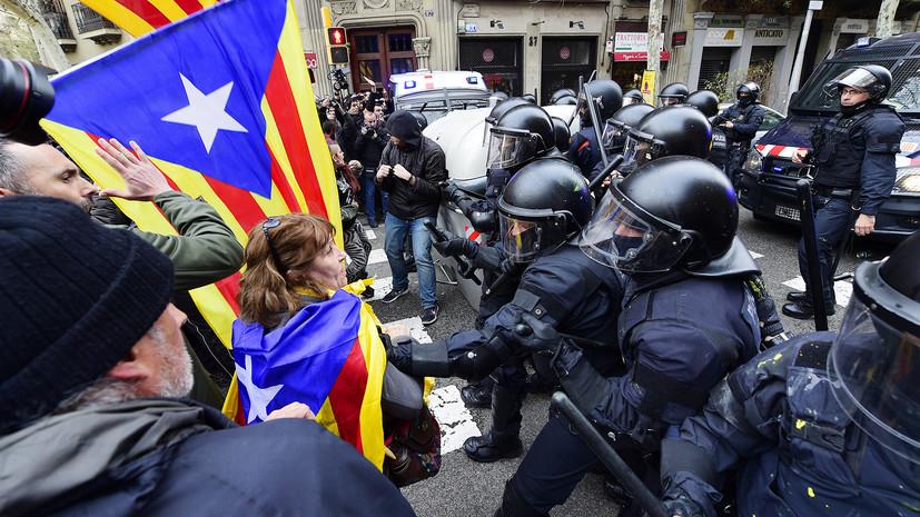 В Каталонии в ходе столкновений между полицией и протестующими пострадали 52 человека