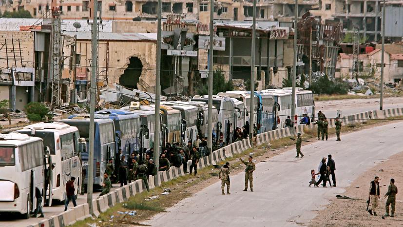 Минобороны: почти 6,5 тысячи боевиков вывезено из Восточной Гуты за двое суток