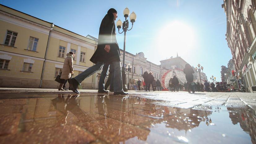 Синоптики рассказали, когда в Москве начнёт активно таять снег