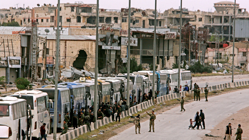Минобороны: около 6,4 тысячи боевиков и членов их семей покинули Восточную Гуту 27 марта