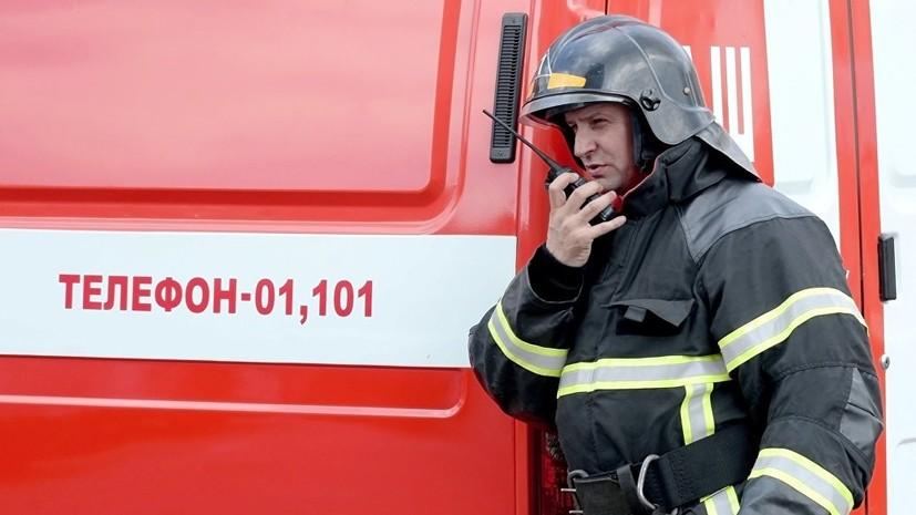 В Кемеровской области загорелся автобуc, перевозивший детскую волейбольную команду