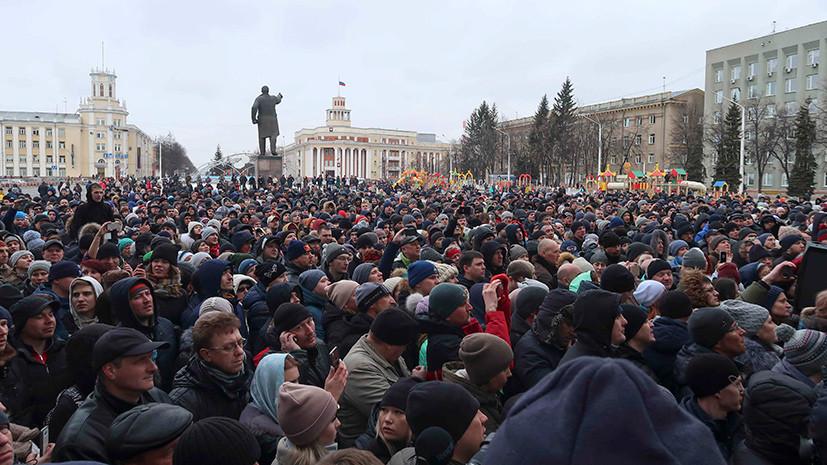 Песков объяснил, почему Путин не вышел к митингующим в Кемерове