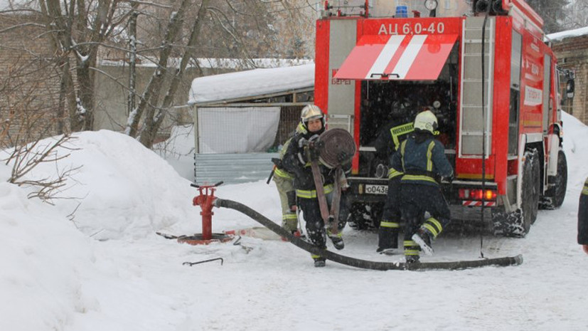В Подмосковье произошёл крупный пожар в строительных бытовках