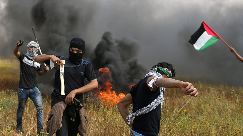 СМИ: При столкновениях с армией Израиля шесть палестинцев погибли и более 500 пострадали