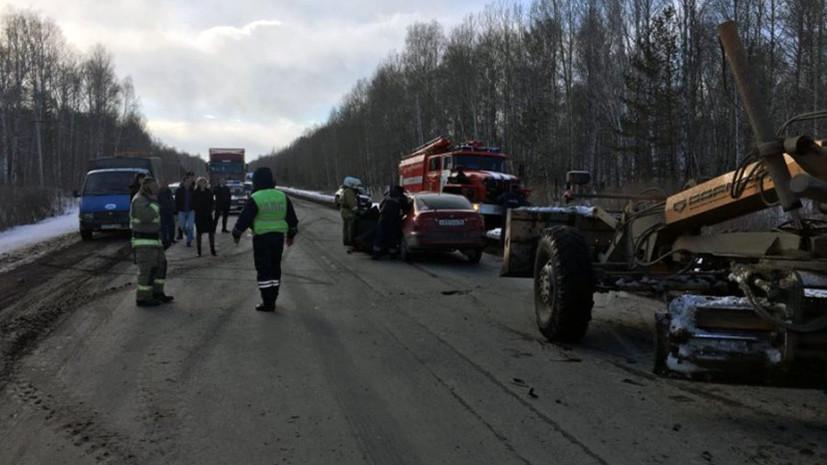 На Урале в ДТП с участием трёх автомобилей пострадали семь человек