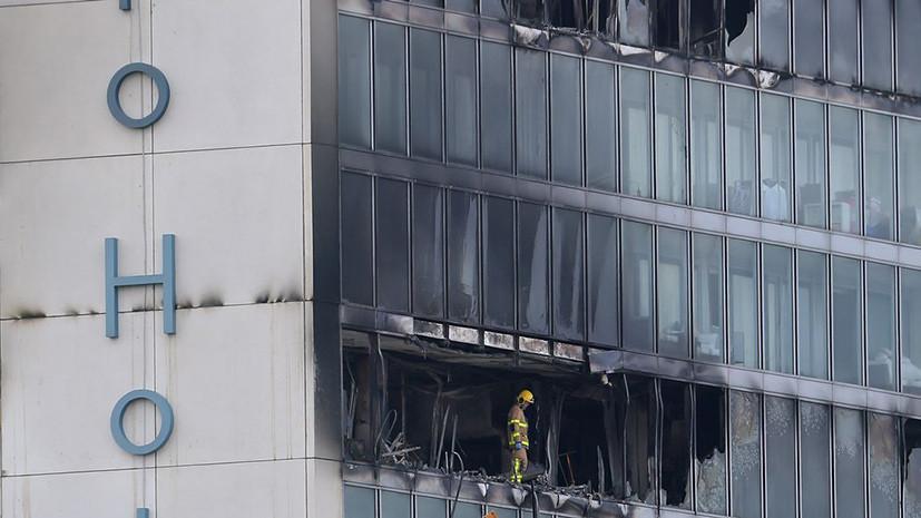 В Дублине произошёл крупный пожар в отеле