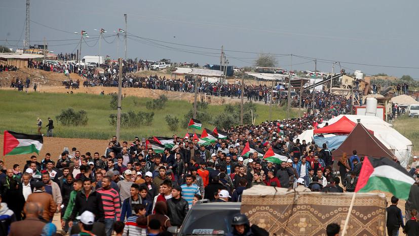 Аббас объявил в Палестине день траура по погибшим в секторе Газа