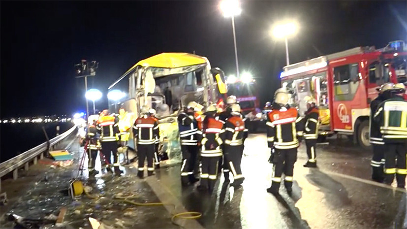 Один человек погиб и 18 пострадали в результате ДТП с участием автобуса в Баварии