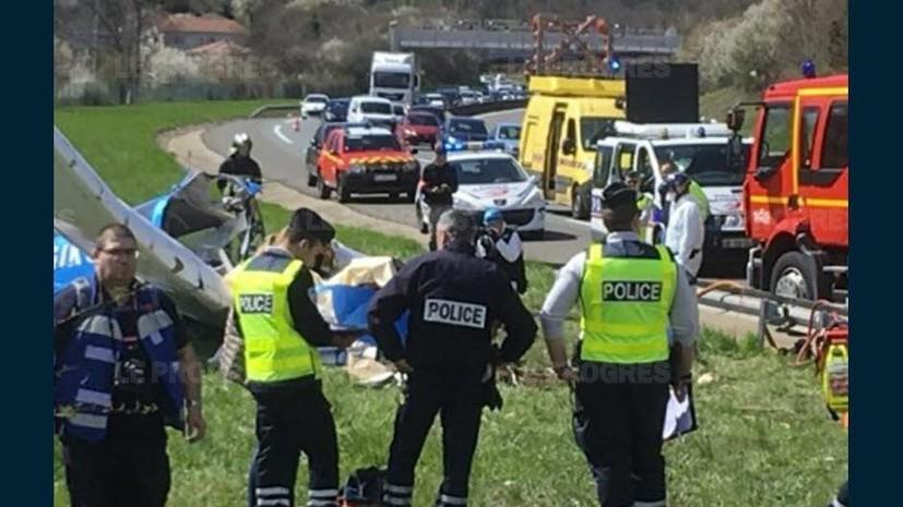 Два человека погибли при крушении двухмоторного самолёта во Франции