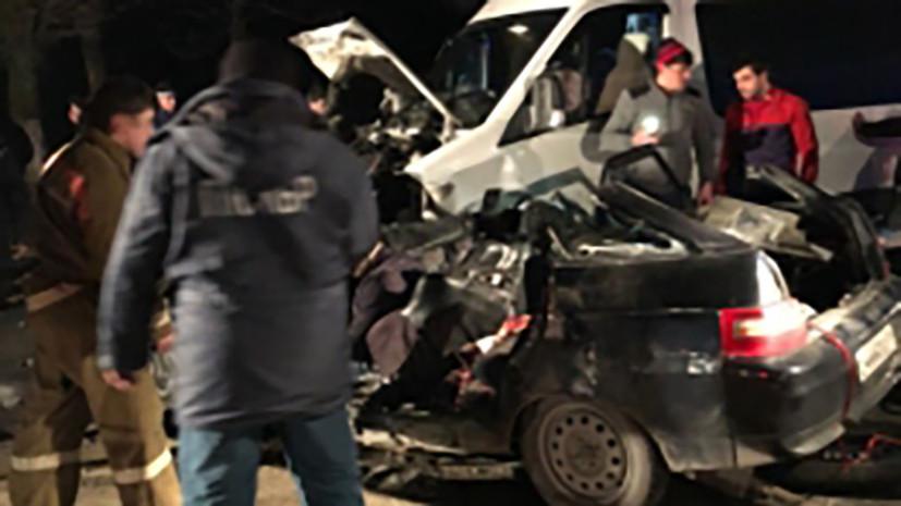 В результате ДТП с микроавтобусом в Кабардино-Балкарии погибли четыре человека